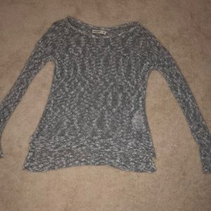 Abercrombie kids gray and white speckled sweater